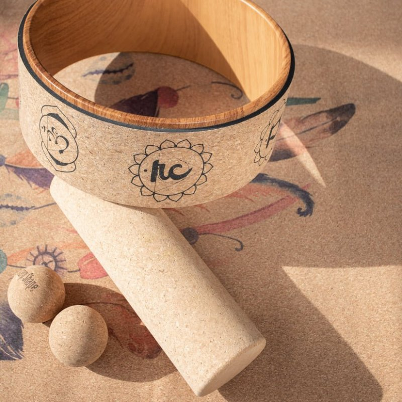 Sharp Shape Cork yoga wheel Mantra