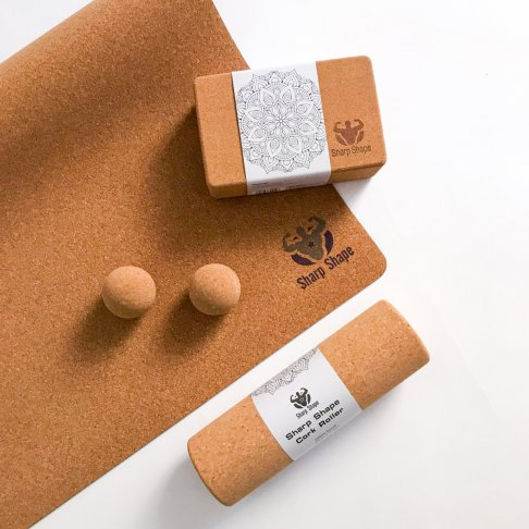 Sharp Shape Cork yoga set