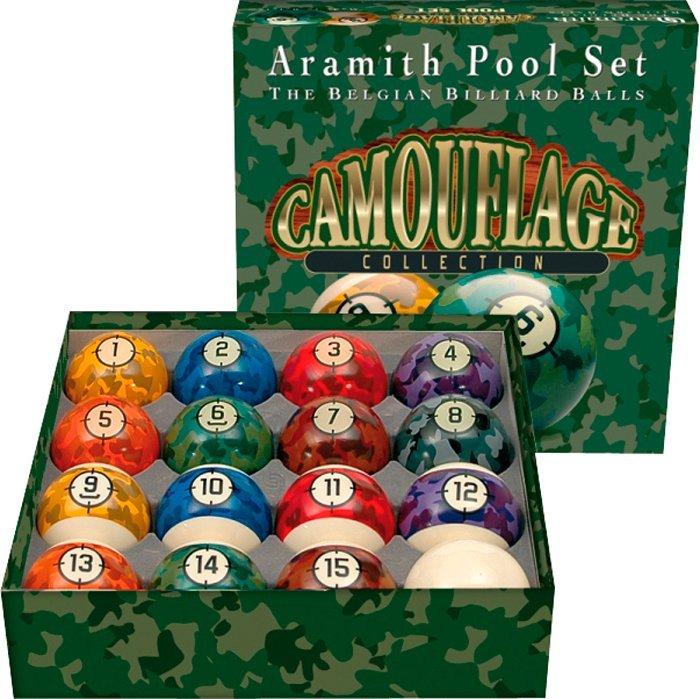 Biliardové gule Aramith Camouflage sada 57,2mm