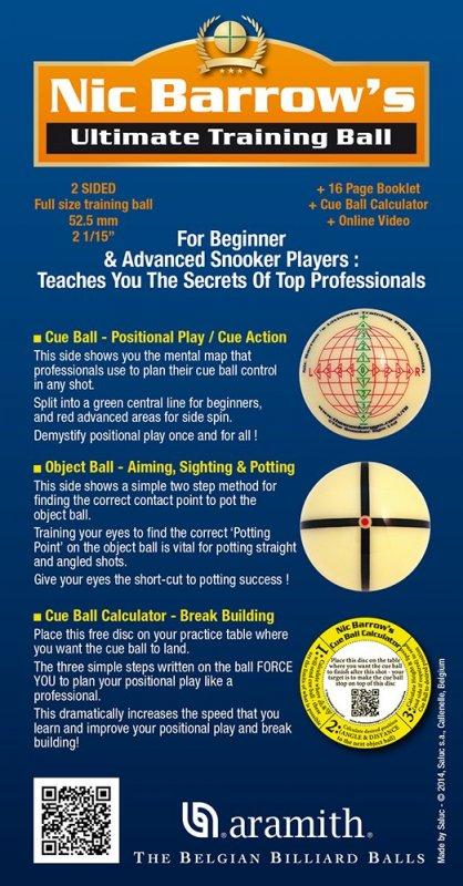Snooker Ultimate Training guľa 52.4mm Nick Barrows