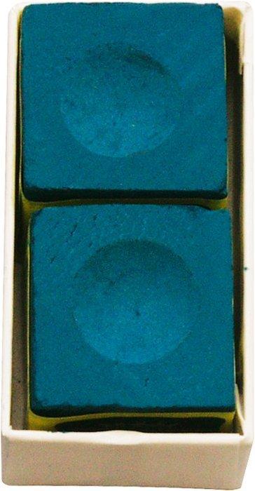 Krieda na biliardové tágo Triangle modrá 2ks