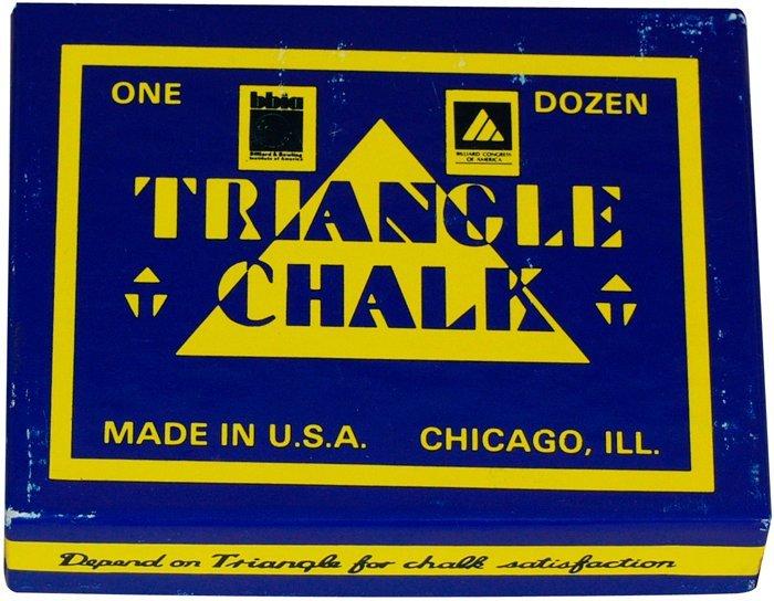 Biliardové kriedy Triangle modré 12ks