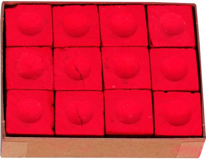 Biliardové kriedy Master červené 12ks