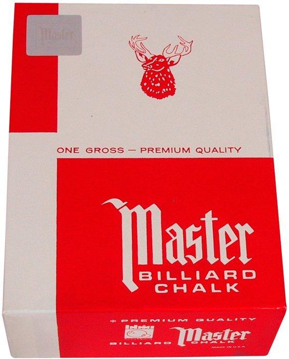 Biliardové kriedy na tágo MASTER RED 144ks