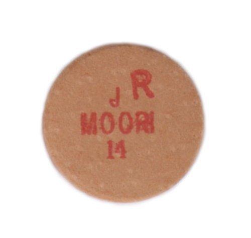 Koža na tágo Moori Jewel 14mm Hard Red 1ks