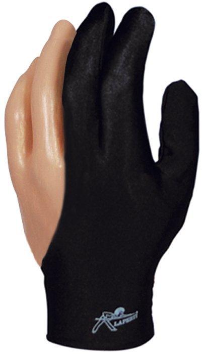 Rukavica na biliard Laperti Velcro XL čierna