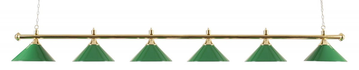 Biliardová lampa Snooker Lux 6 Green 276cm