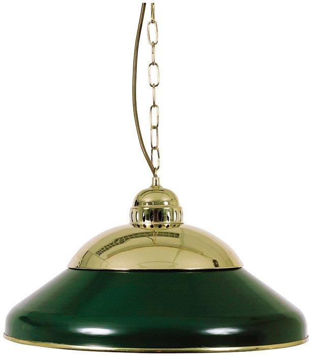 Biliardová lampa Solo Green Brass 45cm