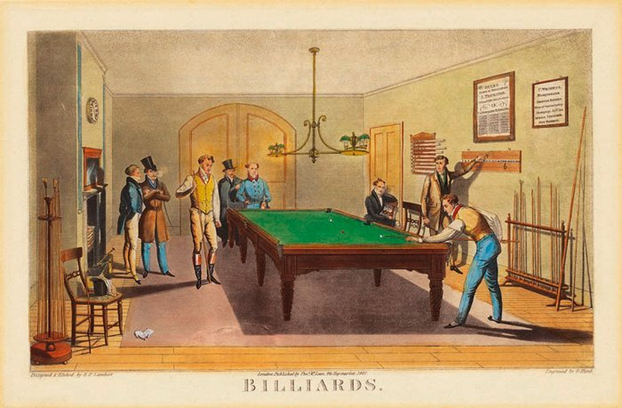 Poster - Salle De Billard 61x40