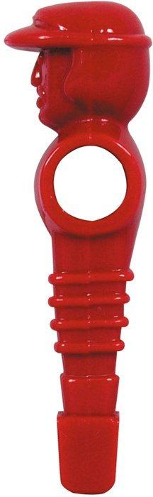 Pevný plastový hráč s čiapkou 16mm červený