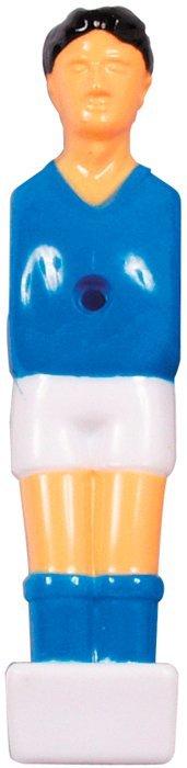 Modrý hráč pre detský stolný futbal tyč 13mm