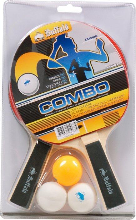 Pingponový set Buffalo Bat Combo 2x pálka 3x loptička