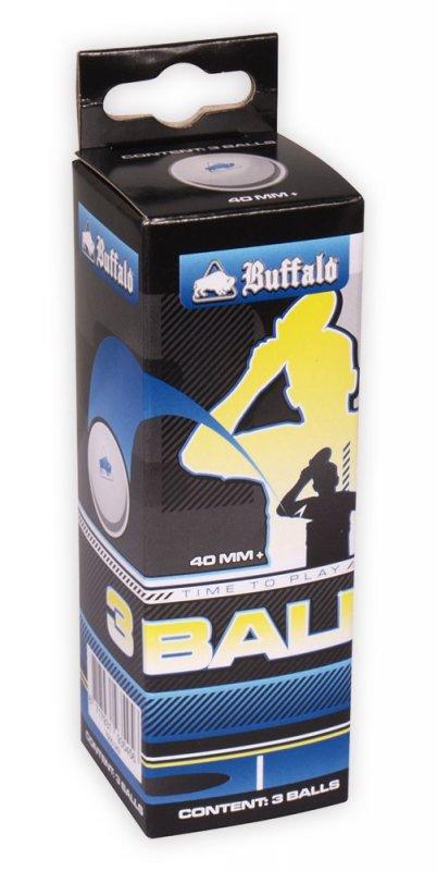 Buffalo loptičky na stolný tenis 3* Competition 3ks