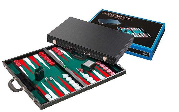 Hra Backgammon Philos green tournament 54x32cm