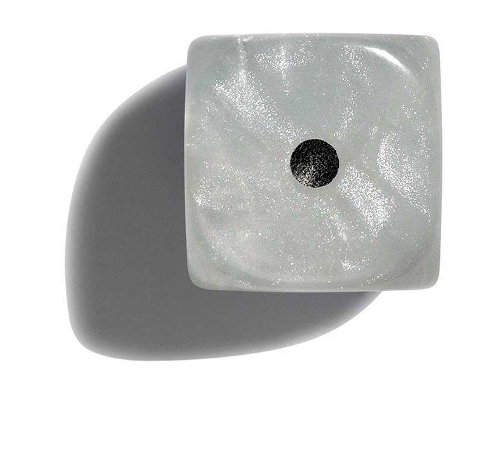 Philos perleťové hracie kocky 12mm biela 36ks
