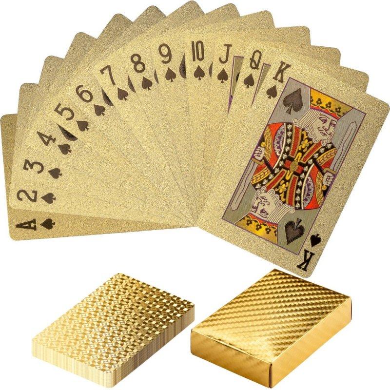 Plastové pokrové karty zlaté Poker Deck