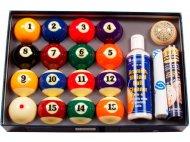 Set biliardových gulí s príslušenstvom na hru