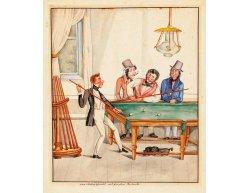 Plagát biliard - Der Billard Spieler