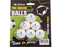 Loptičky Buffalo Pro Soccer Biela 6ks