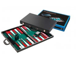 Hra Backgammon Philos green tournament 54x32cm