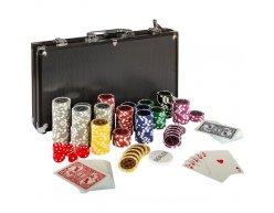 Pokrový set kufrík Ultimate 300 žetónov black