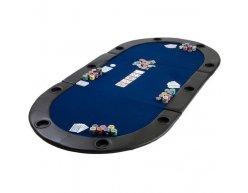 Poker podložka skladacia Monaco modrá