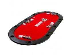 Poker skladacia podložka Monaco červená