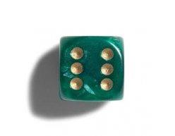 Philos perleťová hracia kocka 12mm zelená