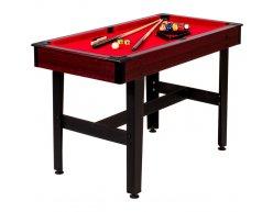 Detský biliardový stôl PLAYPOOL 122x61 RED