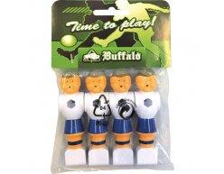 Buffalo hráči na stolný futbal 16mm 4ks modrí