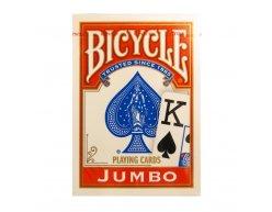 Karty Bicycle Rider Back JUMBO 2 červené