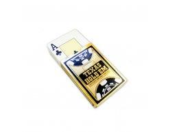 Pokrové karty GOLD RANGE 100% plastové, čierne