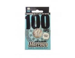 Hroty na šípky soft Harrows Dimple 2BA biele 100 ks/bal