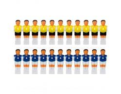 Sada 22 hráčov na stolný futbal pre tyč 15,9 mm