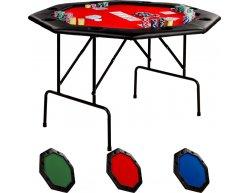 Skladací pokrový stôl OCTAGON 8 červený