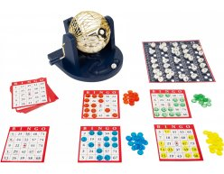 Bingo hrací set s losovacím bubnom 24x20cm
