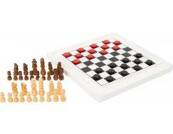 Spoločenská hra šach a dáma 20x20 cm