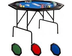 Skladací pokrový stôl OCTAGON 8 modrý