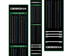 Gumový koberec Designa Checkout 290x60cm, zelený