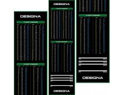 Gumový koberec Designa Checkout 290x80cm, zelený