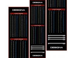Gumový koberec Designa Checkout 290x80cm, červený