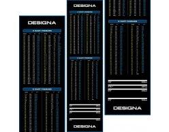 Gumový koberec Designa Checkout 290x80cm, modrý