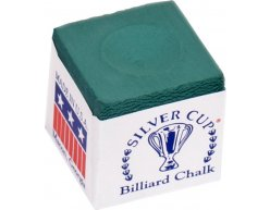 Biliardová krieda na tágo Silver Cup zelená 1ks