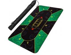 Poker podložka čierno-zelená 200x90cm rolovacia v obale