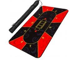 Poker podložka čierno-červená 160x80cm rolovacia v obale