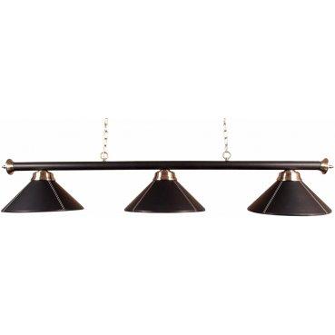 Biliardová lampa Leather Lux 3 Black 150cm