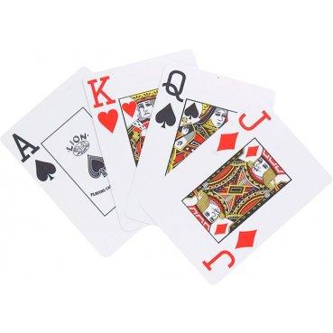 Plastové karty na poker LION 100% 1 balíček