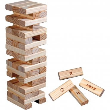 Jenga veža Philos Timber Action z dreva