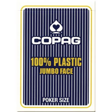 Pokrové karty COPAG PKJ JUMBO 100% plastové modré