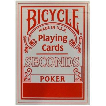 Karty Bicycle Seconds červené